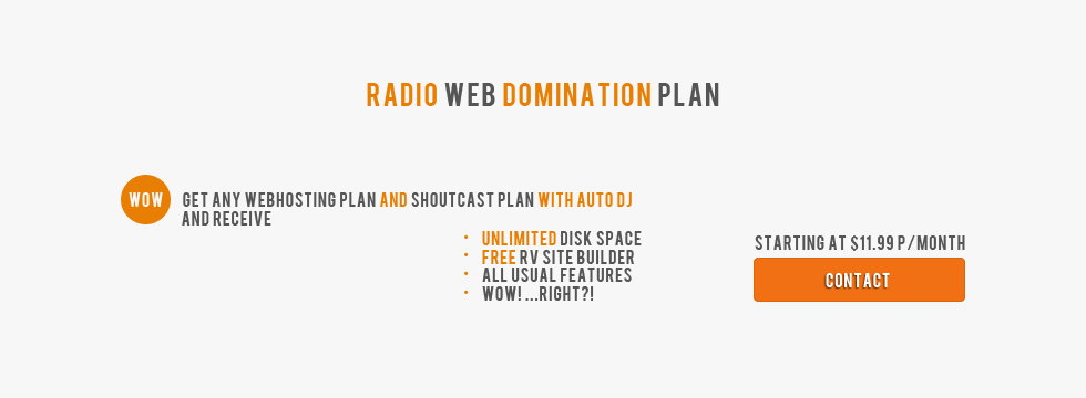 SPECIAL Web hosting amp SHOUTcast plans with Auto DJ