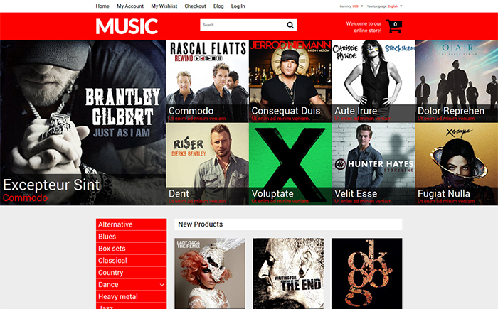 Mixed Taste Music Shop Magento Theme