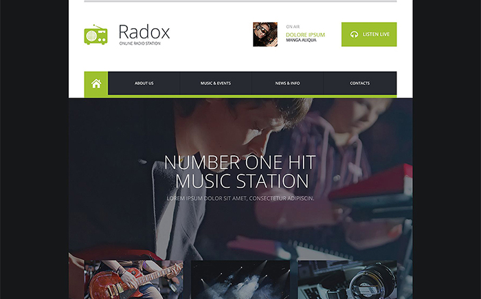 Radio Website Responsive Website Template