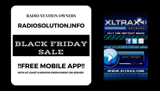 shoutcast black friday